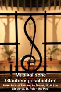 musikalische Glaubensgeschichten in St. Peter und Paul - jeden letzten Sonntag im Monat um 18.45 Uhr