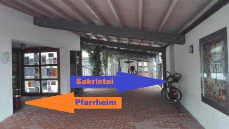 Pfarrheim Eingang